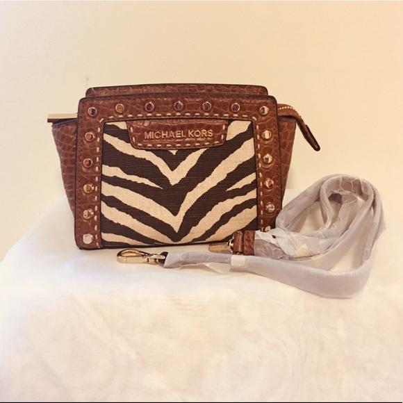 55d35b8d293d29 MICHAEL Michael Kors Bags | Reducedmicheal Kors Zebra Print Mini ...